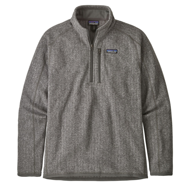 Patagonia Better Sweater Rib Knit 1/4 Zip Fleece Stonewash
