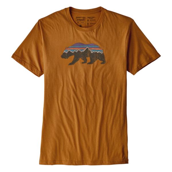 Patagonia Fitz Roy Bear Organic T-Shirt Hammonds Gold