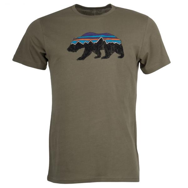 Patagonia Fitz Roy Bear Organic T-Shirt Sage Khaki