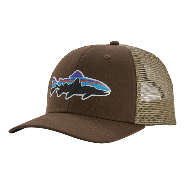 Patagonia Fitz Roy Trout Trucker Hat Bristle Brown