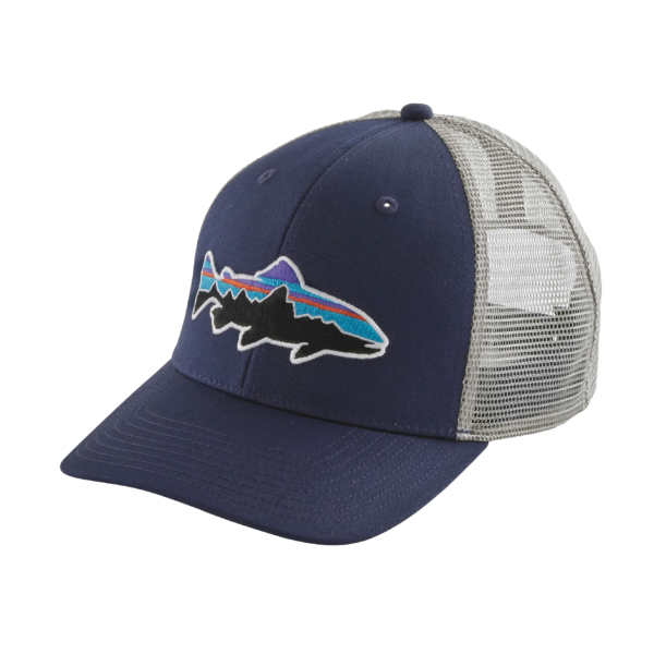 Patagonia Fitz Roy Trout Trucker Hat Classic Navy / Drifter Grey