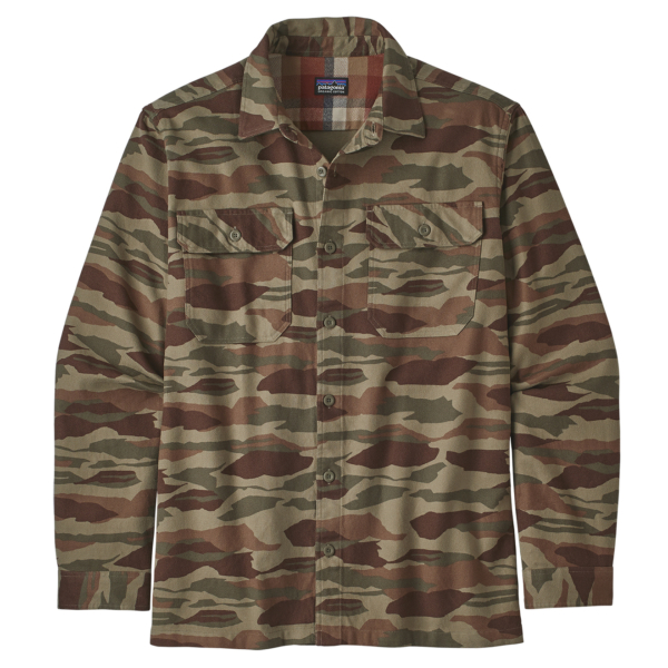 Patagonia Fjord Flannel Shirt Bear Witness Camo / Sage Khaki
