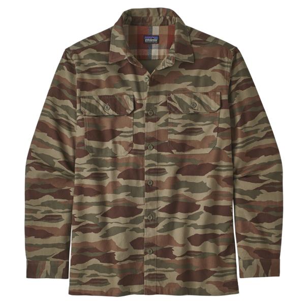Patagonia Fjord Flannel Shirt Bear Witness Camo / Sage Khaki