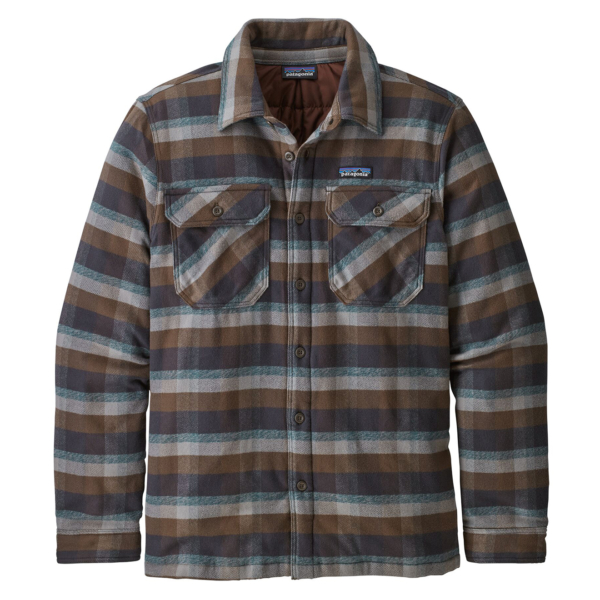 Patagonia Insulated Fjord Flannel Jacket Observer Ink Black