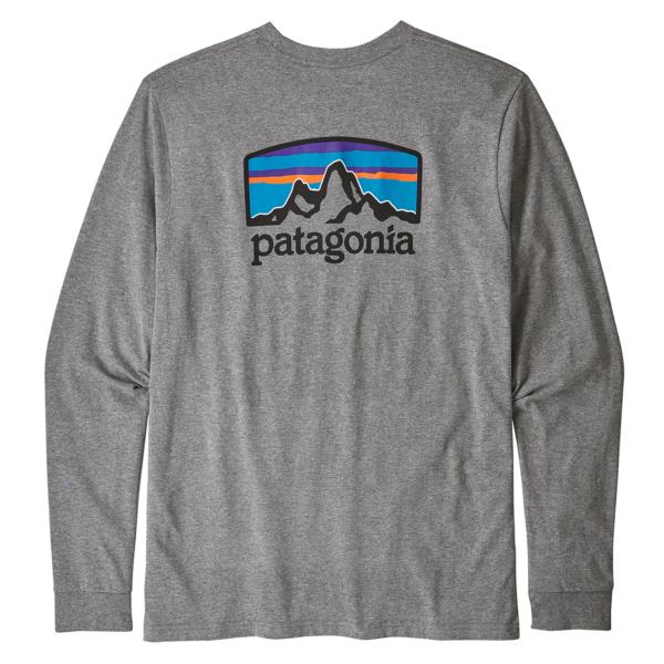 Patagonia LS Fitz Roy Horizons Responsibili-Tee Gravel Heather