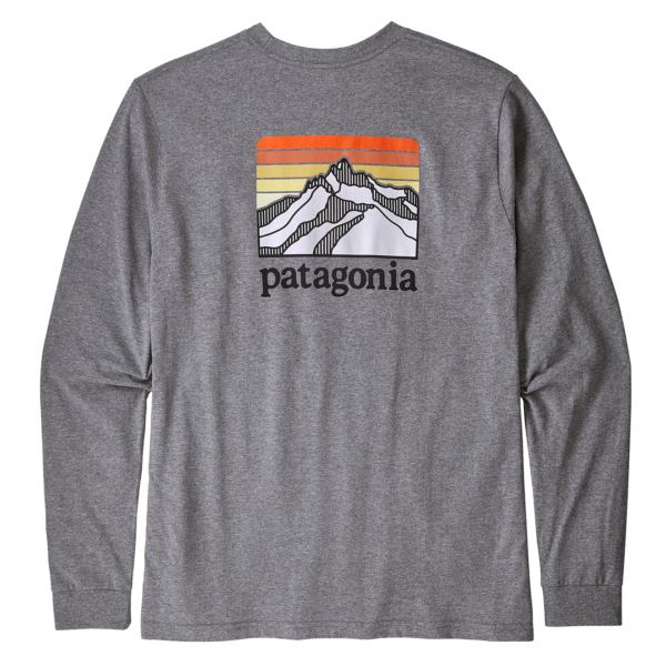 Patagonia LS Line Logo Responsibili-Tee Gravel Heather