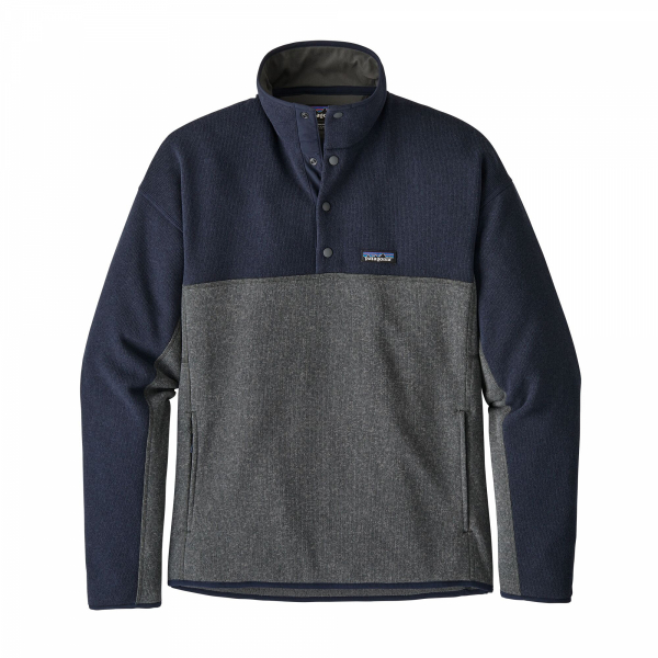 Patagonia Lightweight Better Sweater Marsupial Pullover Forge Grey /Navy