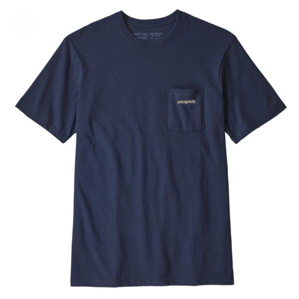 Patagonia Line Logo Ridge Pocket Responsibili-Tee Dolomite Blue