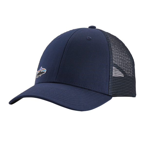 Patagonia Small Fitz Roy Fish LoPro Trucker Hat Classic Navy Trout
