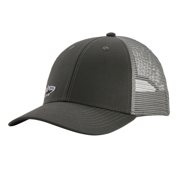 Patagonia Small Fitz Roy Fish LoPro Trucker Hat Forge Grey Tarpon