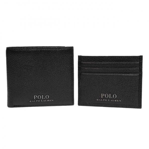Polo Ralph Lauren Bifold Wallet and Card Case Gift Set Black