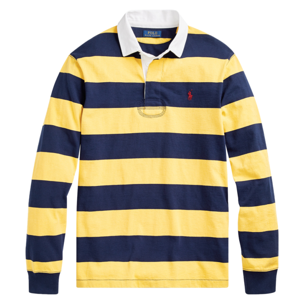 Polo Ralph Lauren Classic Stripe Rugby Shirt Blue / Yellow