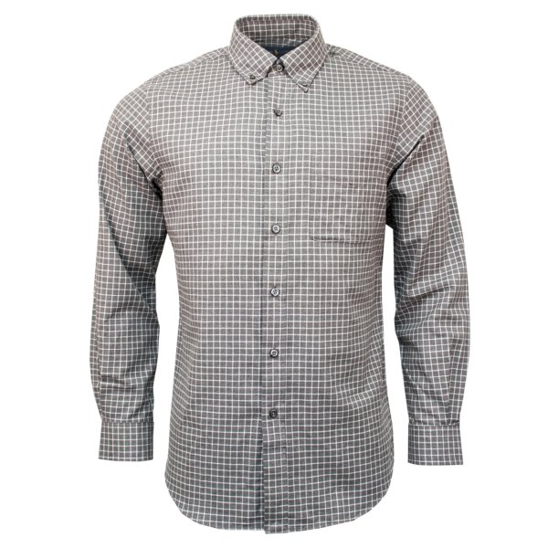 Polo Ralph Lauren Custom Fit Flannel Check Shirt Grey / White Multi
