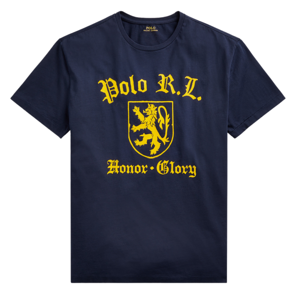 Polo Ralph Lauren Custom Slim Fit Graphic T-Shirt Navy