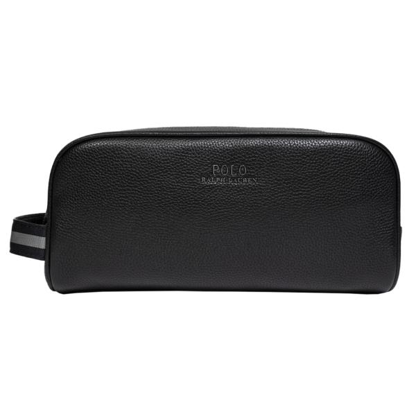 Polo Ralph Lauren Full Grain Leather Wash Bag Black