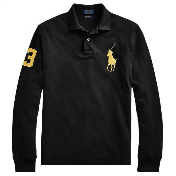Polo Ralph Lauren LS Large Logo Pony Polo Black
