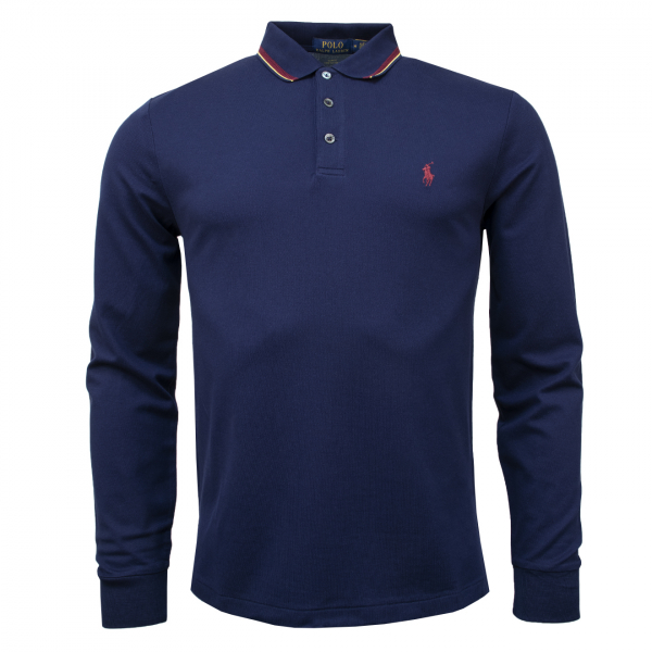 Polo Ralph Lauren LS Tipped Polo Navy