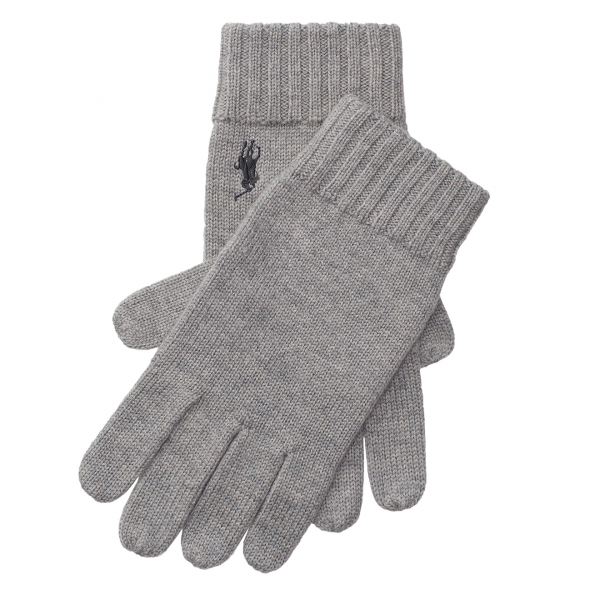 Polo Ralph Lauren Merino Gloves Light Grey