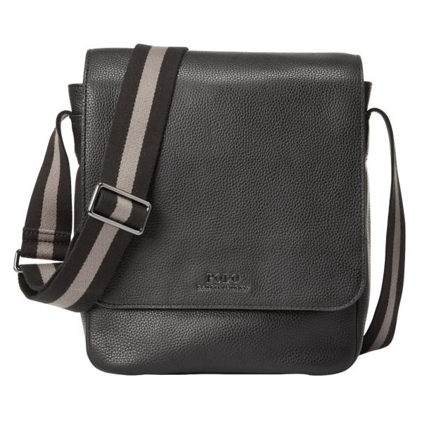 Polo Ralph Lauren Pebbled Leather Flight Bag Black