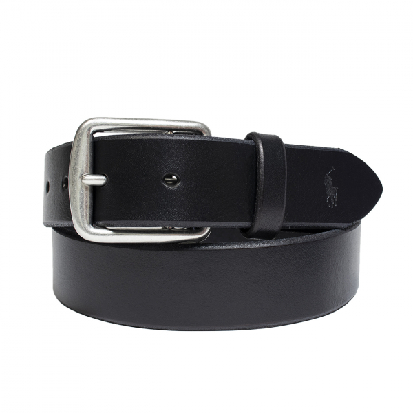 Polo Ralph Lauren Saddle Leather Belt Black
