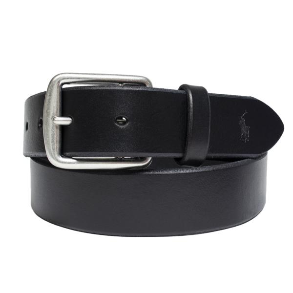 Polo Ralph Lauren Saddle Leather Belt Black