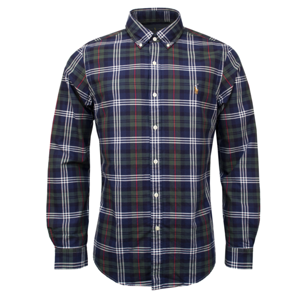 Polo Ralph Lauren Slim Fit Classic Check Shirt Navy Multi