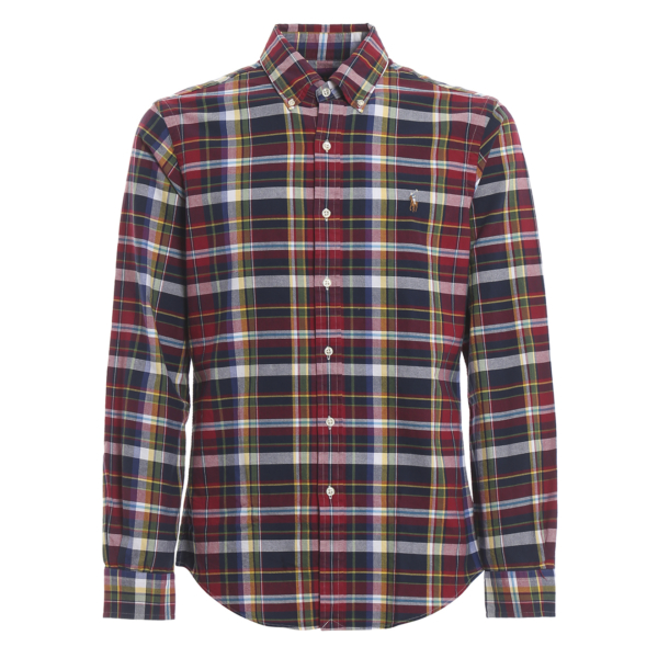 Polo Ralph Lauren Slim Fit Classic Check Shirt Red / Navy