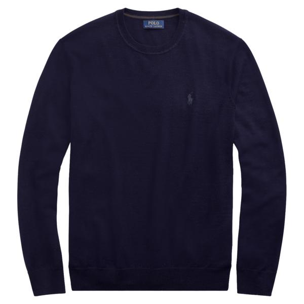 Polo Ralph Lauren Slim Washable Merino Sweater Blue