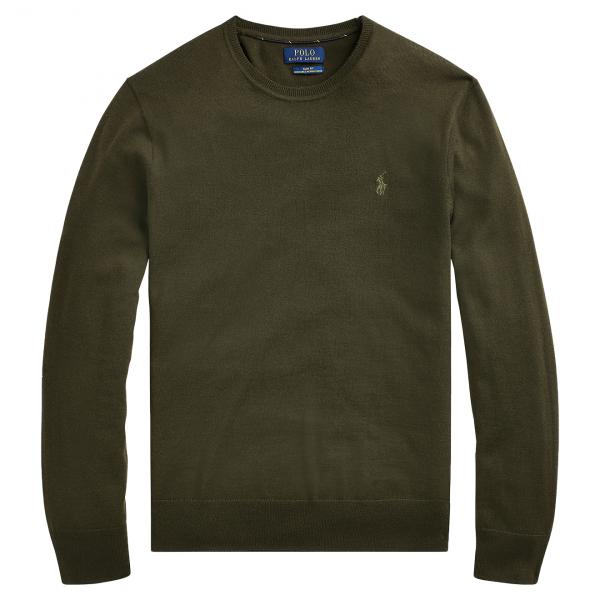 Polo Ralph Lauren Slim Washable Merino Sweater Green