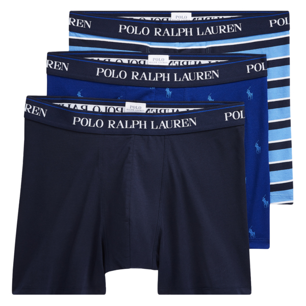 Polo Ralph Lauren Stretch Cotton Trunk 3-Pack Pony Logo Multi
