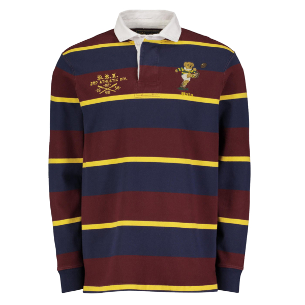 Polo Ralph Lauren Stripe LS Rugby Shirt Navy / Red