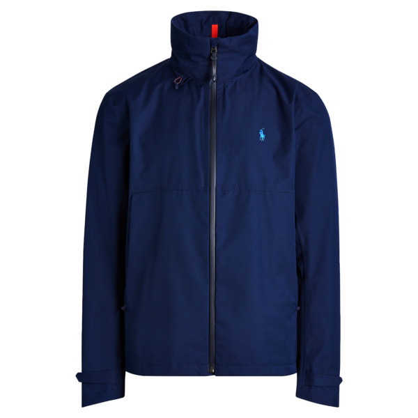 Polo Ralph Lauren Twill Hooded Windbreaker Jacket Cruise Navy