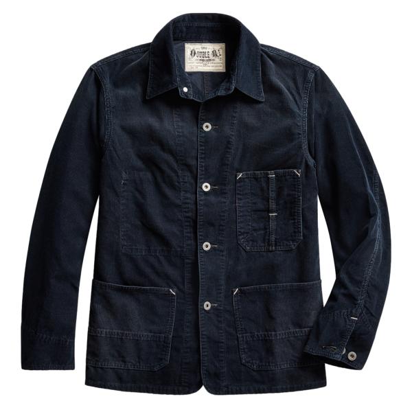 RRL by Ralph Lauren Indigo Corduroy Chore Jacket Indigo