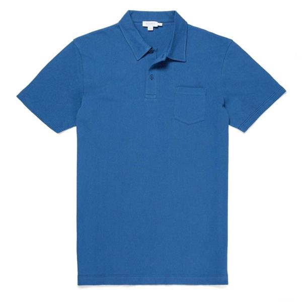 Sunspel Riviera S/S Polo Shirt Mid Indigo