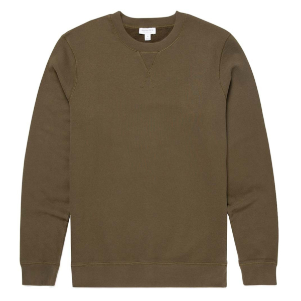 Sunspel Sweat Top Military Green