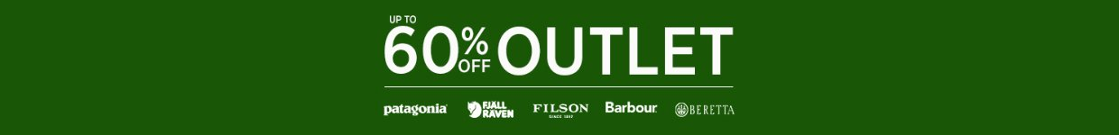 Up To 60% Off Outlet Fjallraven, Patagonia, Barbour, Le Chameau and Beretta