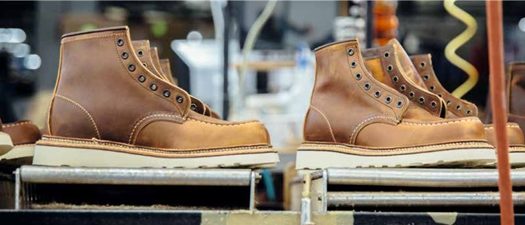 Red Wing Shoes on Production Line