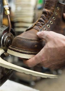 Trimming Red Wing Shoe During Manufacture