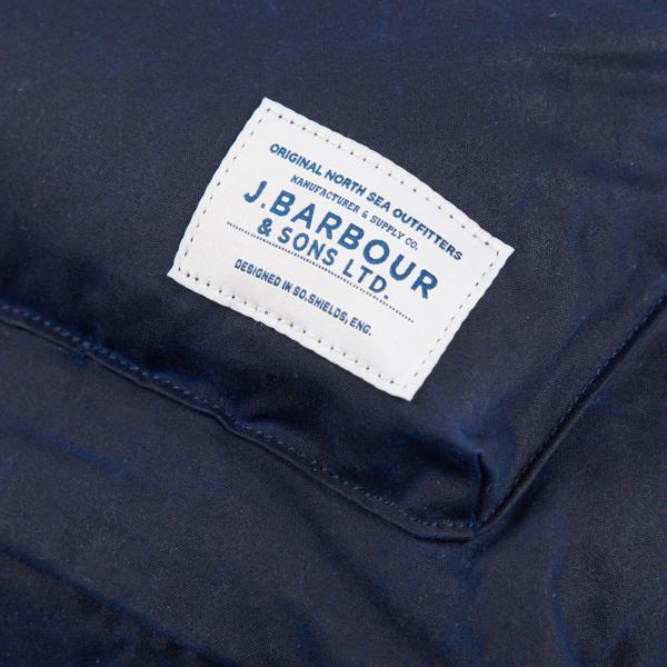 Barbour Cuburn Backpack Label Navy