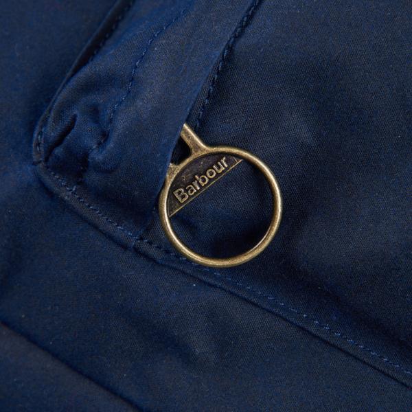Barbour Cuburn Backpack Metal Zipper Pull Navy