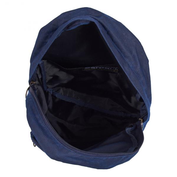 Barbour Cuburn Backpack Open Interior Navy