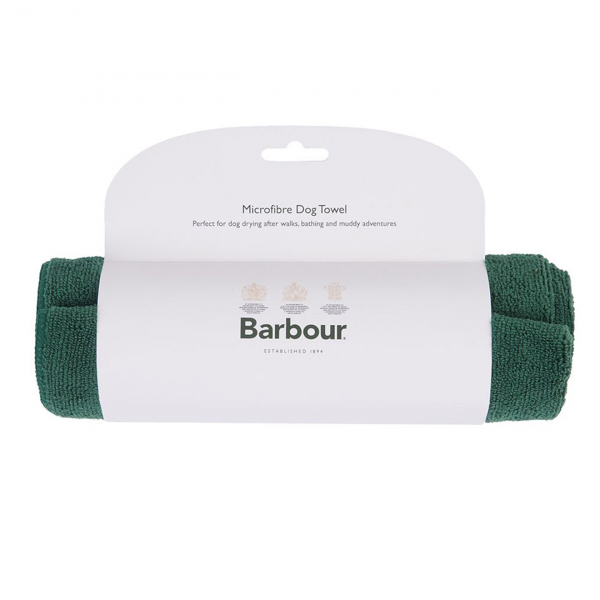 Barbour Dog Towel Green