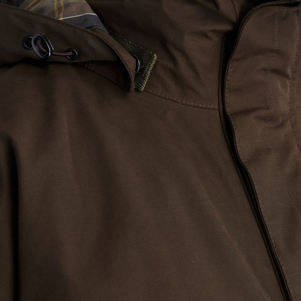Barbour Gosforth Jacket Dark Double Storm Fastening Olive