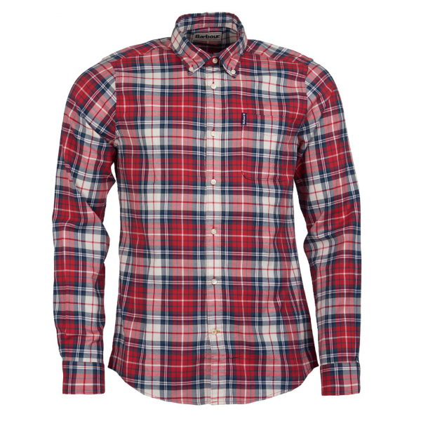 Barbour Highland Check 10 Tailored Fit Shirt Red
