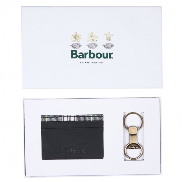 Barbour Keyring Gift Set Antique Brass