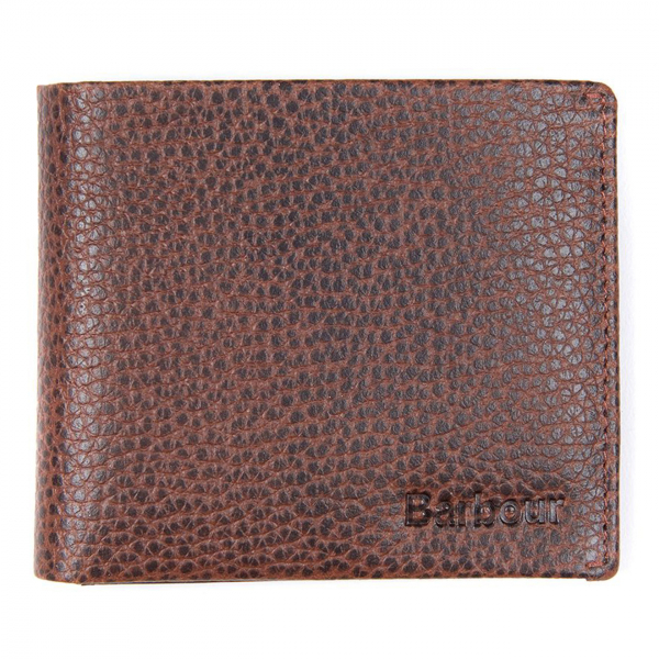 Barbour Laddon Billfold Wallet Brown