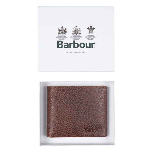 Barbour Laddon Billfold Wallet Brown
