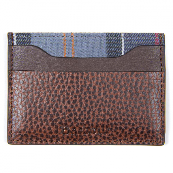 Barbour Leather Card Holder Brown