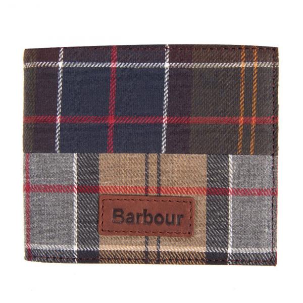 Barbour Mixed Tartan Billfold Wallet Mixed Tartan