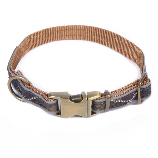 Barbour Reflective Dog Collar Classic Tartan